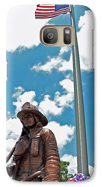 Galaxy Case featuring the photograph Our Heroes by Charlotte Schafer