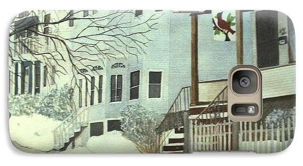 Galaxy Case featuring the painting Our House In Medford by June Holwell