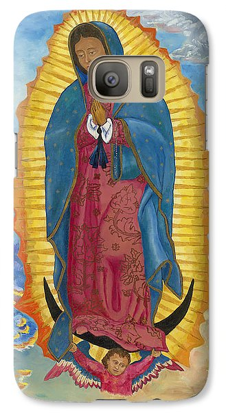 Galaxy Case featuring the painting Our Lady Of Guadalupe-new Dawn by Mark Robbins