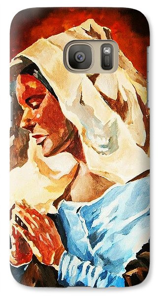 Galaxy Case featuring the painting Our Lady Of Peace by Al Brown