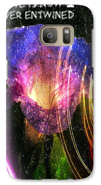 Galaxy Case featuring the digital art Our Love Is Now Forever Entwined by Absinthe Art By Michelle LeAnn Scott