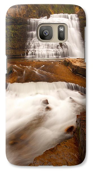 Galaxy Case featuring the photograph Ousel Falls by Aaron Whittemore