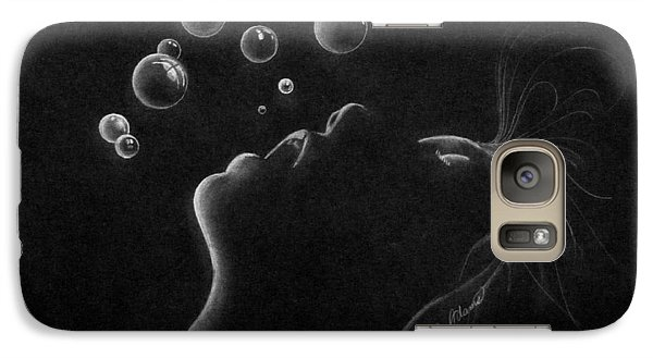 Galaxy Case featuring the drawing Out Of Air by James McAdams