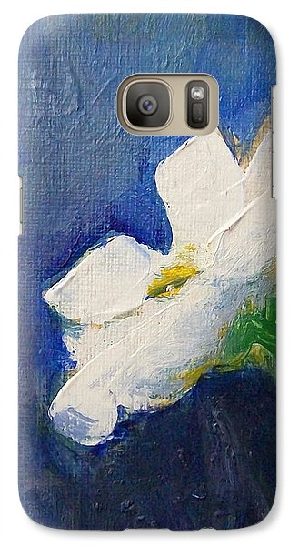 Galaxy Case featuring the painting Out Of The Blue by Jane  See