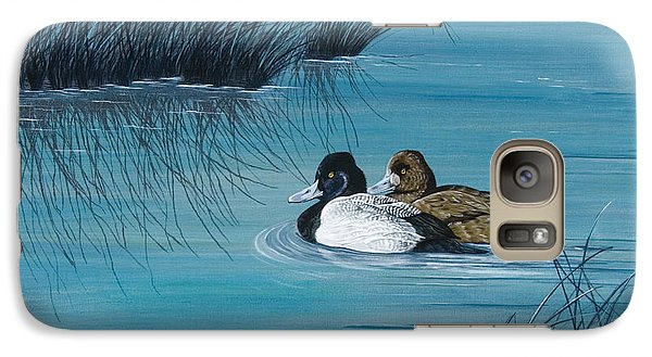 Galaxy Case featuring the painting Out Of The Blue by Jennifer Lake