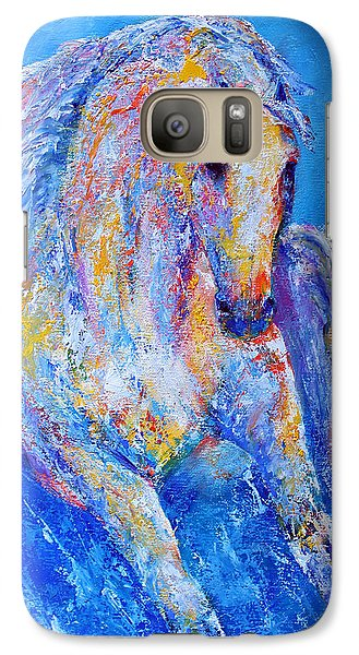Galaxy Case featuring the painting Out Of The Blue by Jennifer Godshalk