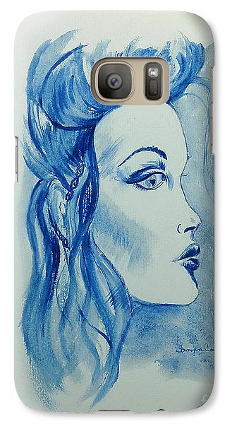 Galaxy Case featuring the painting Out Of The Blue by Tamyra Crossley