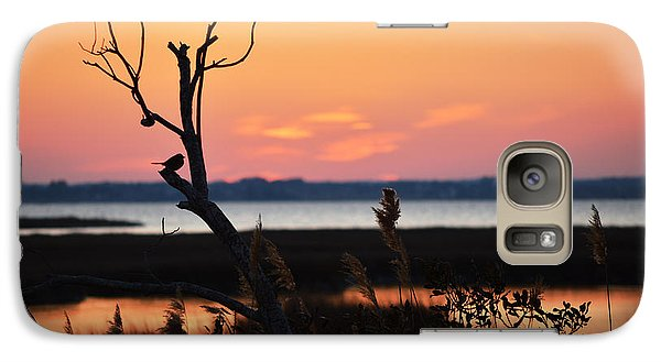 Galaxy Case featuring the photograph Ocean City Sunset Out On A Limb by Bill Swartwout