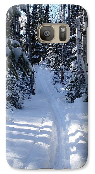 Galaxy Case featuring the photograph Out On The Trail by Sandra Updyke