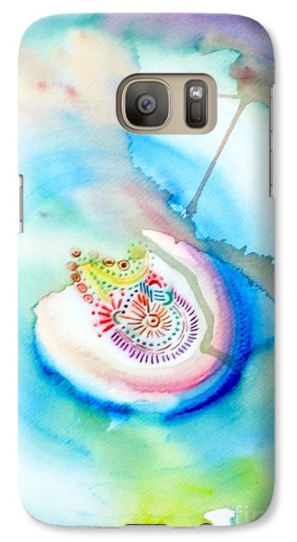 Galaxy Case featuring the painting Deep Blue by Mukta Gupta