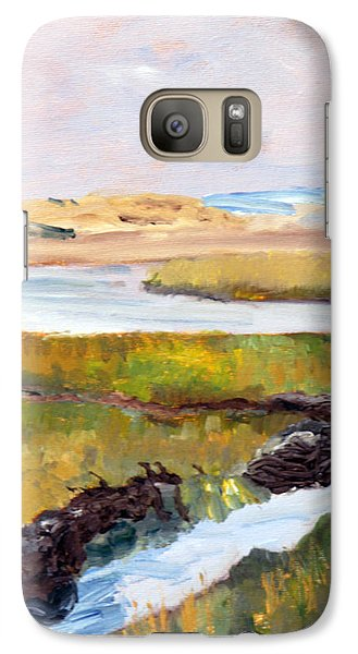 Galaxy Case featuring the painting Out To The Bay by Michael Helfen