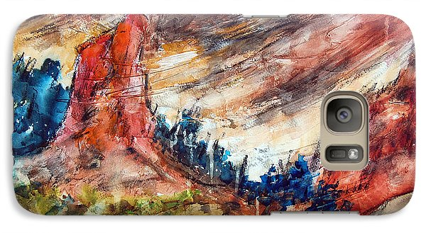 Galaxy Case featuring the painting Out West by Ron Stephens
