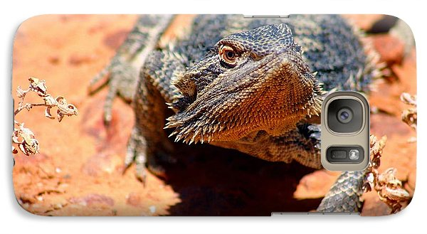 Galaxy Case featuring the photograph Outback Lizard 2 by Henry Kowalski