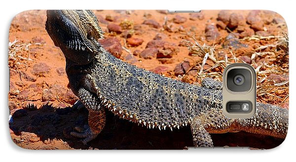 Galaxy Case featuring the photograph Outback Lizard by Henry Kowalski