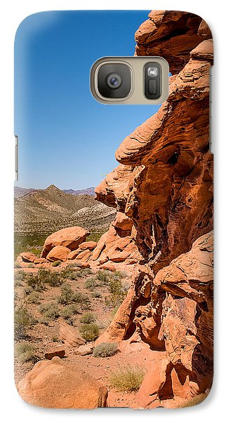 Galaxy Case featuring the photograph Outcrop - Valley Of Fire State Park by  Onyonet  Photo Studios