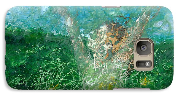 Galaxy Case featuring the painting Outdoors by Denise Deiloh