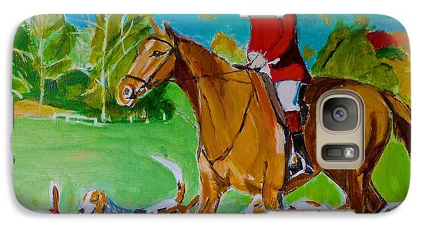 Galaxy Case featuring the painting Outfoxed by Judy Kay