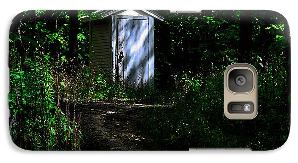 Galaxy Case featuring the photograph Outhouse In Early Morning by Kathleen Stephens