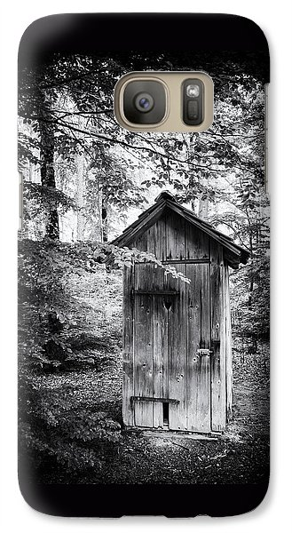 Outhouse In The Forest Black And White Galaxy S7 Case by Matthias Hauser