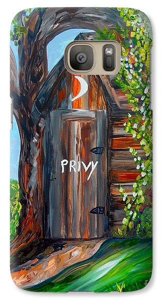 Galaxy Case featuring the painting Outhouse - Privy - The Old Out House by Eloise Schneider