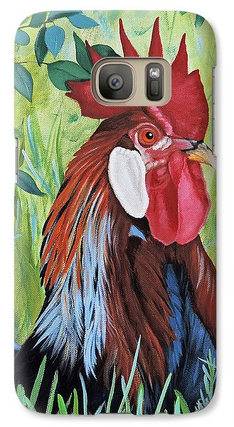 Galaxy Case featuring the painting Outlaw Rooster by Jimmie Bartlett