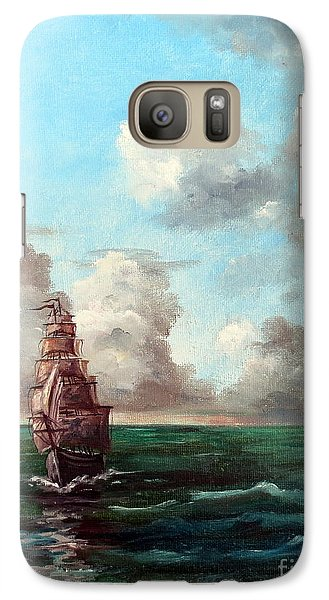 Galaxy Case featuring the painting Outrunning The Storm by Lee Piper