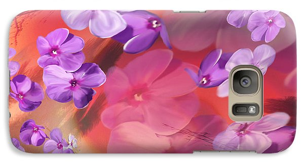 Galaxy Case featuring the painting Outside Inspirations by Janie Johnson