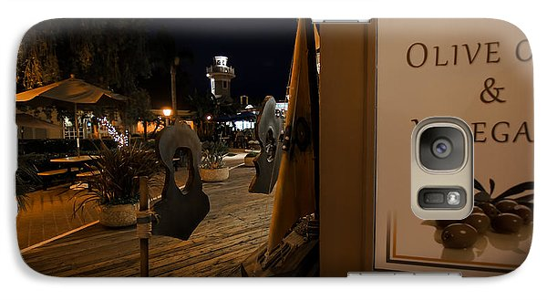 Galaxy Case featuring the photograph Outside The Oil And Vinegar Shop by Jeremy Farnsworth