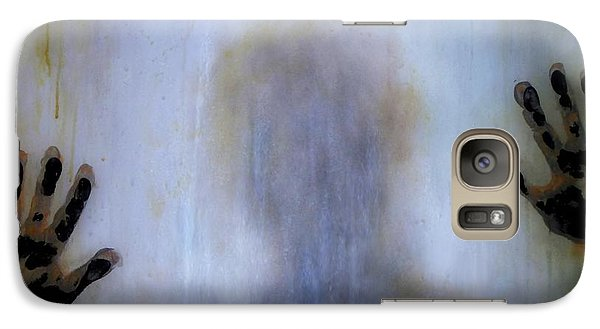 Galaxy Case featuring the painting Outsider by Lilia D