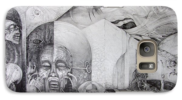 Galaxy Case featuring the drawing Outskirts Of Necropolis by Otto Rapp