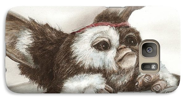 Galaxy Case featuring the drawing Outta The Box - Gizmo  by Meagan  Visser