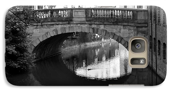 Galaxy Case featuring the photograph Oval Bridge Over The River Foss York by Scott Lyons