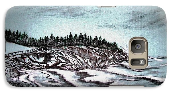 Galaxy Case featuring the drawing Oven's Park Nova Scotia by Janice Rae Pariza