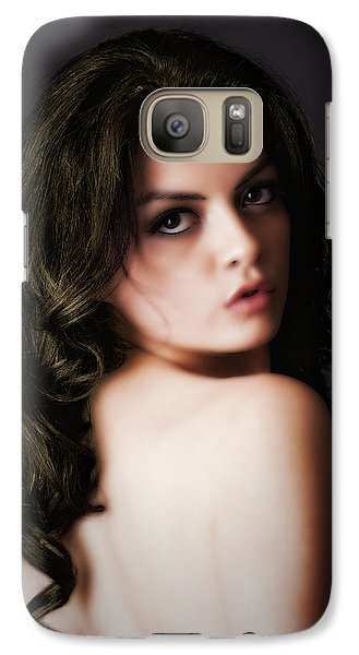 Galaxy Case featuring the photograph Over Her Shoulder  ... by Chuck Caramella
