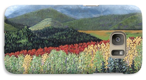 Galaxy Case featuring the painting Over The Hills And Through The Woods by Suzanne Theis