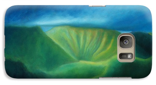 Galaxy Case featuring the painting Over The Pali by Angela Treat Lyon