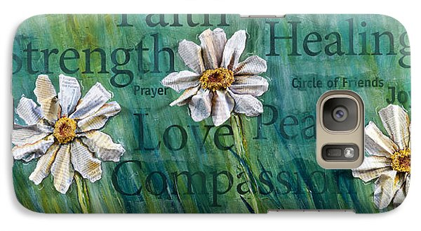 Galaxy Case featuring the painting Overcome by Lisa Fiedler Jaworski