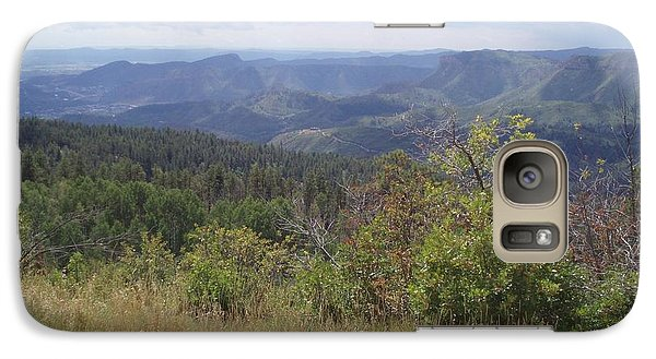 Galaxy Case featuring the photograph Overlook Into The Mist by Fortunate Findings Shirley Dickerson