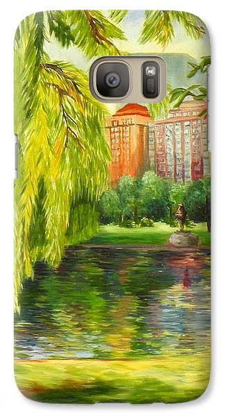 Galaxy Case featuring the painting Overlooking Boston by Shelia Kempf