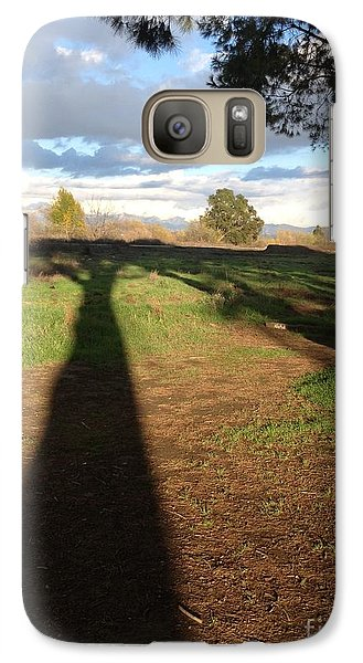 Galaxy Case featuring the photograph Oversize Shadow by Nora Boghossian