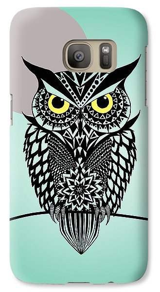 Owl 5 Galaxy Case by Mark Ashkenazi