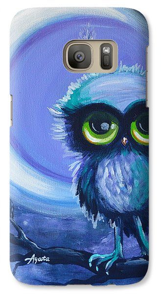 Galaxy Case featuring the painting Owl Be Brave by Agata Lindquist