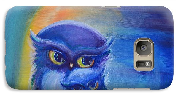 Galaxy Case featuring the painting Owl Always Love You by Agata Lindquist