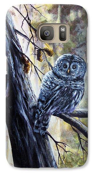 Galaxy Case featuring the painting Owl by Bozena Zajaczkowska