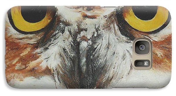 Galaxy Case featuring the painting OwL by Cherise Foster