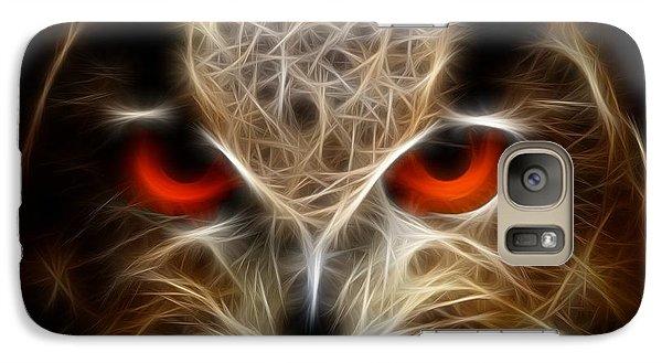 Galaxy Case featuring the digital art Owl - Fractal Artwork by Lilia D