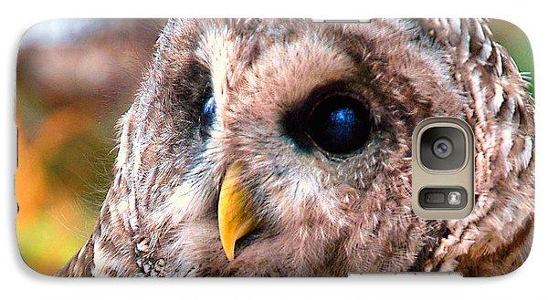 Galaxy Case featuring the photograph Owl Gaze by Adam Olsen