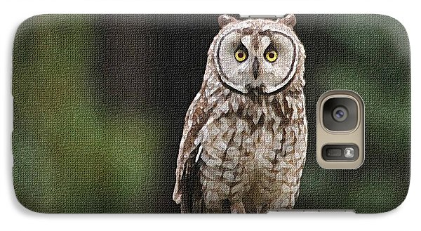 Galaxy Case featuring the photograph Owl In The Forest Visits by Tom Janca