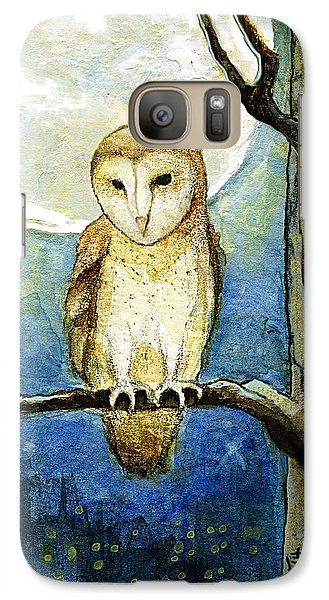 Galaxy Case featuring the painting Owl Moon by Terry Webb Harshman