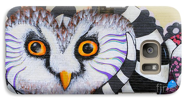 Galaxy S7 Case featuring the photograph Owl Mural by Ricky L Jones